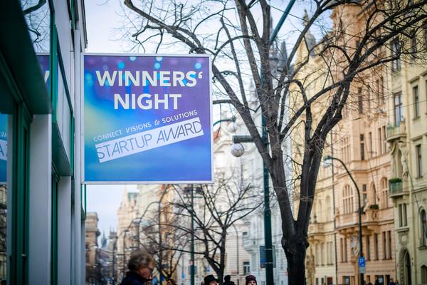 6 Start-ups durften sich an der Winner's Night in Prag vorstellen