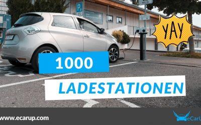 1000 Ladestationen auf der eCarUp Plattform
