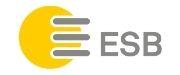 ESB Logo. ESB bietet öffentliche Ladestationen an