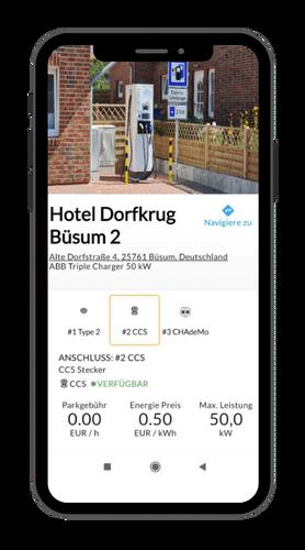 Lade App für Elektroautos mit transparenter Anzeige aller Kosten