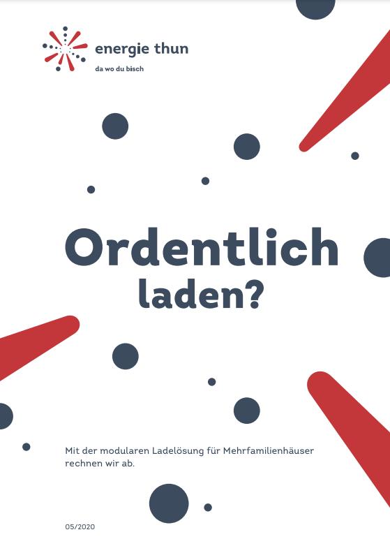 Ordentlich Laden Flyer Deckblatt Energie Thun AG